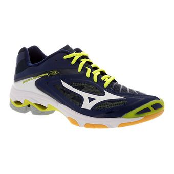 Chaussures indoor homme WAVE LIGHTNING Z3 blue depths/white/safety yellow