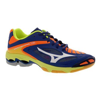 Zapatillas indoor hombre WAVE LIGHTNING Z3 blue surf the web/white/orange cfi