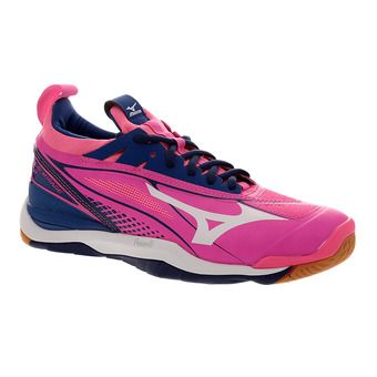Zapatillas indoor mujer WAVE MIRAGE 2 pink glo/white/true blue