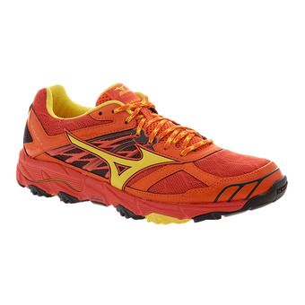 Zapatillas de trail hombre WAVE MUJIN 4 grenadine/yellow/red ora