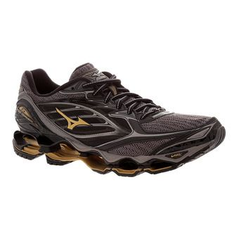 Zapatillas de running hombre WAVE PROPHECY 6 black/gold/metallic shadow