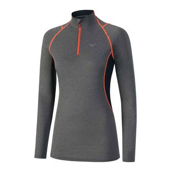 Camiseta mujer WOOL fine grey/ coral