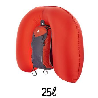 Sac à dos airbag 25L REACTOR ULTRALIGHT rouge