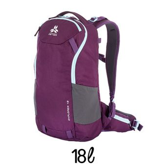 Mochila 18L EXPLORER V2 violeta/gris