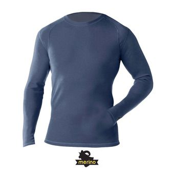Camiseta térmica hombre MERINO 250 CREW dark blue steel heather