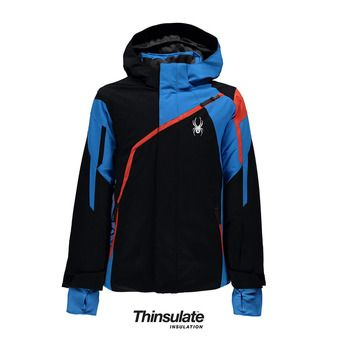 Chaqueta de esquí niño CHALLENGER black/french blue/burst