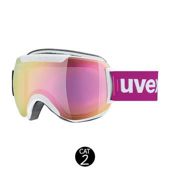 Masque de ski DOWNHILL 2000 FM white mat/mirror pink clear