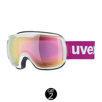 Masque de ski DOWNHILL SMALL 2000 FM white mat/mirror pink clear
