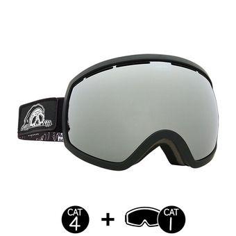Masque de ski EG2 sketchy tank/brose-silver chrome + light green - 2 écrans