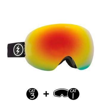 Gafas de esquí EG3 gloss black /brose-red chrome + light green - 2 pantallas