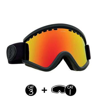 Gafas de esquí EGV matte black/brose-red chrome + light green - 2 pantallas