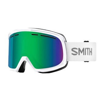 Masque de ski homme RANGE white / green sol-x mirror