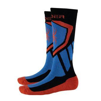 Chaussettes de ski garçon VENTURE black/french blue/burst