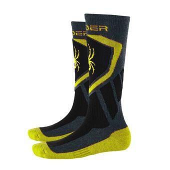 Chaussettes de ski garçon VENTURE polar/bright yellow/black