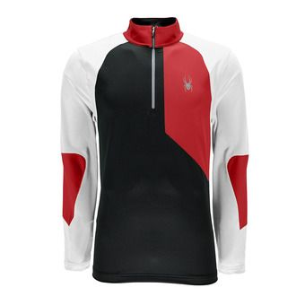Maillot ML homme CHARGER THERMASTRETCH black/red/white