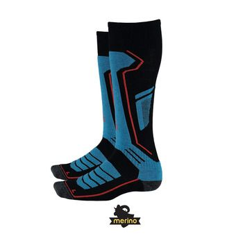 Calcetines de esquí hombre SPORT MERINO black/french blue/burst