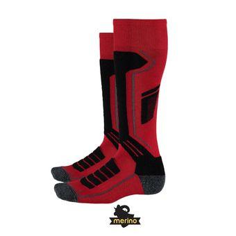 Calcetines de esquí hombre SPORT MERINO red/black/polar