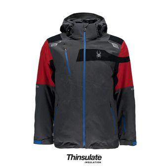 Chaqueta de esquí hombre TITAN polar/red/black