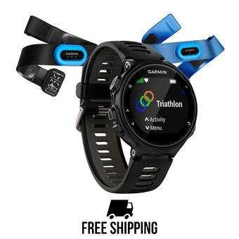 Reloj GPS FORERUNNER 735XT + sensores HRM-Tri & Swim negro/gris