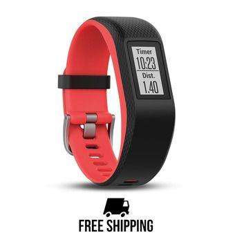 Bracelet d'activité GPS VIVOSPORT noir/fuschia