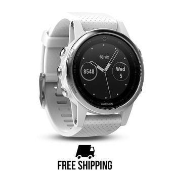 fenix 5S.Carrara White.GPS Watch.WW UNISEX Blanc
