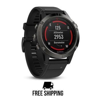 Reloj GPS Fenix 5 gris/negro