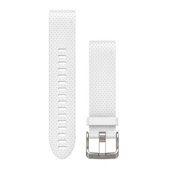 Bracelet silicone QUICKFIT pour montre GPS Fenix 5S blanc