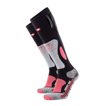Calcetines térmicos mujer POWERSOCK HEAT negro/rosa