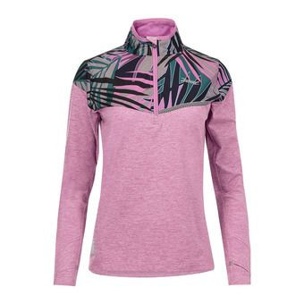 Maillot 1/2 zip ML femme DAWN PATROL orchid/palm