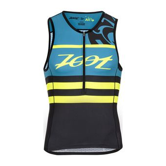 Maillot trifonction 1/2 zip homme TRI ALI'I blue/honu