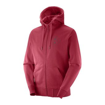 Sweat à capuche zippé homme MTN BRANDING red