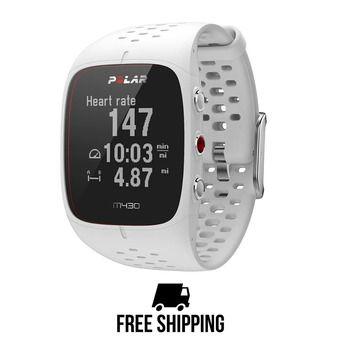 Montre cardio connectée M430 GPS blanc