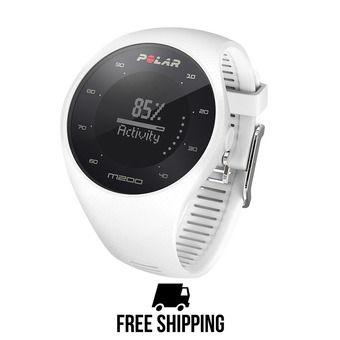 Montre cardio connectée M200 GPS blanc