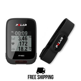 Cuentakilómetros pulsómetro GPS M460 negro + cinturón pulsómetro H10