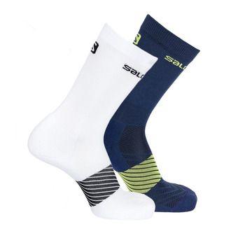 Pack de 2 pares de calcetines XA 2P dress blue/white