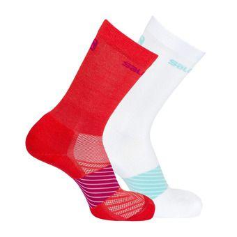 Lot de 2 paires de chaussettes XA 2P poppy red/white
