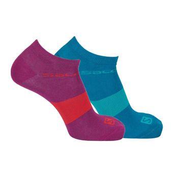 Pack de 2 pares de calcetines LIFE LOW 2P enamel/pink purple