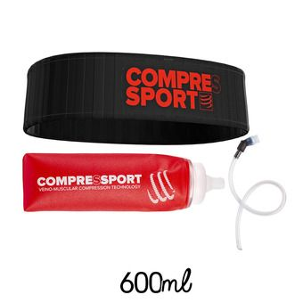 Pack cinturón FREE negro + botellín 600ml ERGO