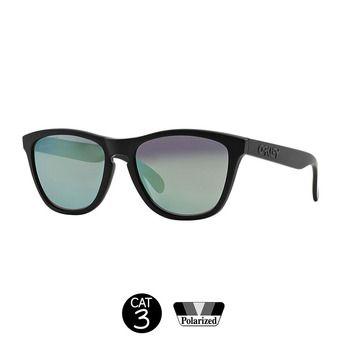 Lunettes de soleil polarisées FROGSKINS matte black/emerald iridium®