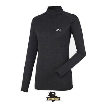 Camiseta térmica mujer LD C WOOL BLEND 200 black