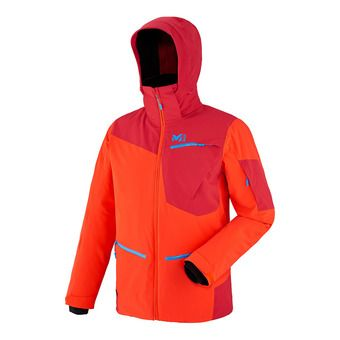 Veste à capuche homme IKAM STRETCH orange/deep red