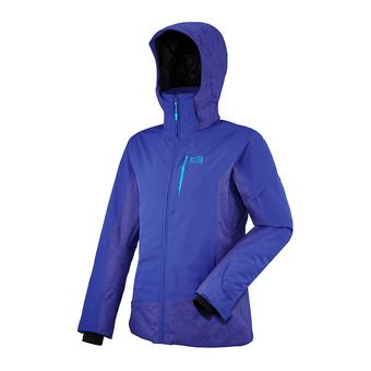 Veste à capuche femme LD KANGA HEATHER purple/blue
