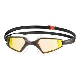 Gafas de natación AQUAPULSE MAX MIRROR 2 black/gold