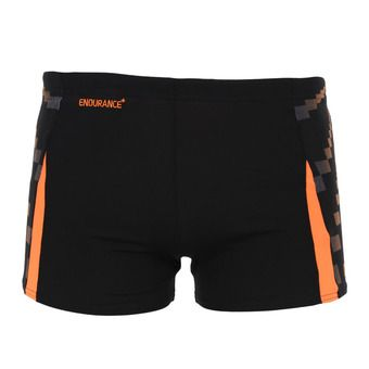 Bañador tipo bóxer hombre GRAPHIC SPLICE black/orange