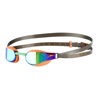 Gafas de natación FASTSKIN3 ELITE MIRROR orange/green