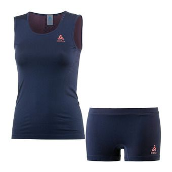 Conjunto camiseta + mallas mujer PERFORMANCE diving navy/dubarry