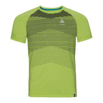 Camiseta hombre AION acid lime melange/placed print ss18