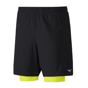 Short homme ALPHA 7.5 5 2in1 black/safety yellow