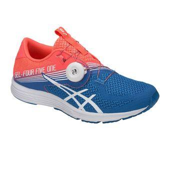 Chaussures running femme GEL-451 flash coral/white/directoire blue
