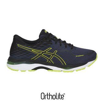 Chaussures running homme GEL-CUMULUS 19 indigo blue/black/safety yellow